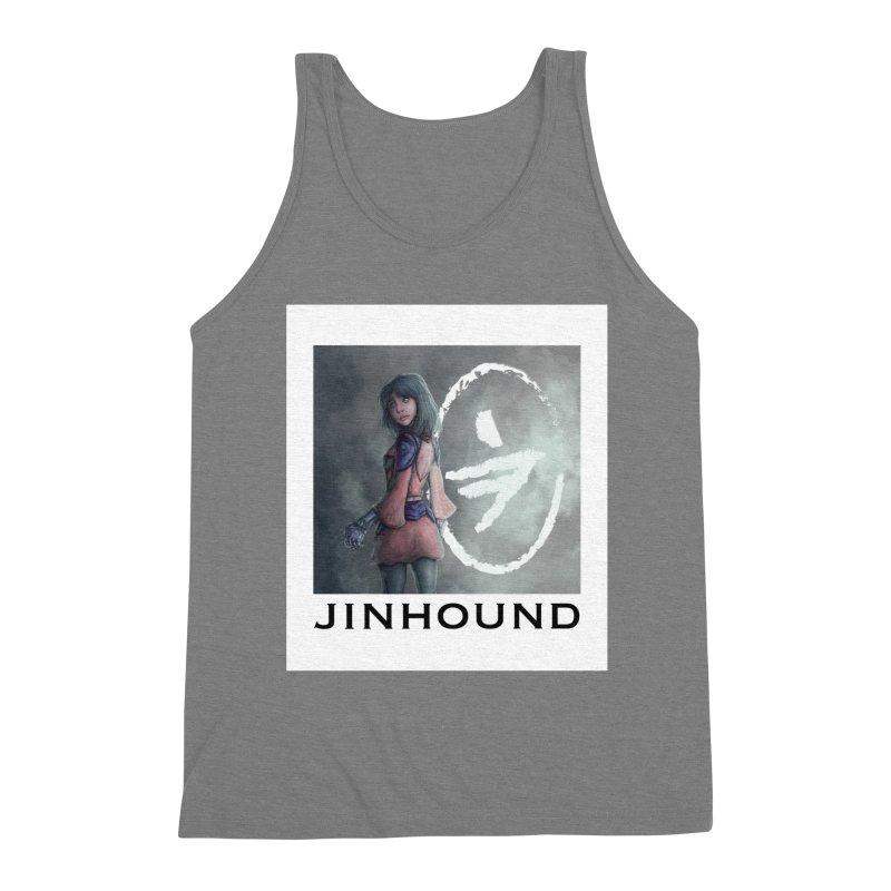 Girl in the mist Men's Triblend Tank by jinhound's Artist Shop