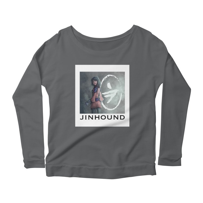 Girl in the mist Women's Scoop Neck Longsleeve T-Shirt by jinhound's Artist Shop