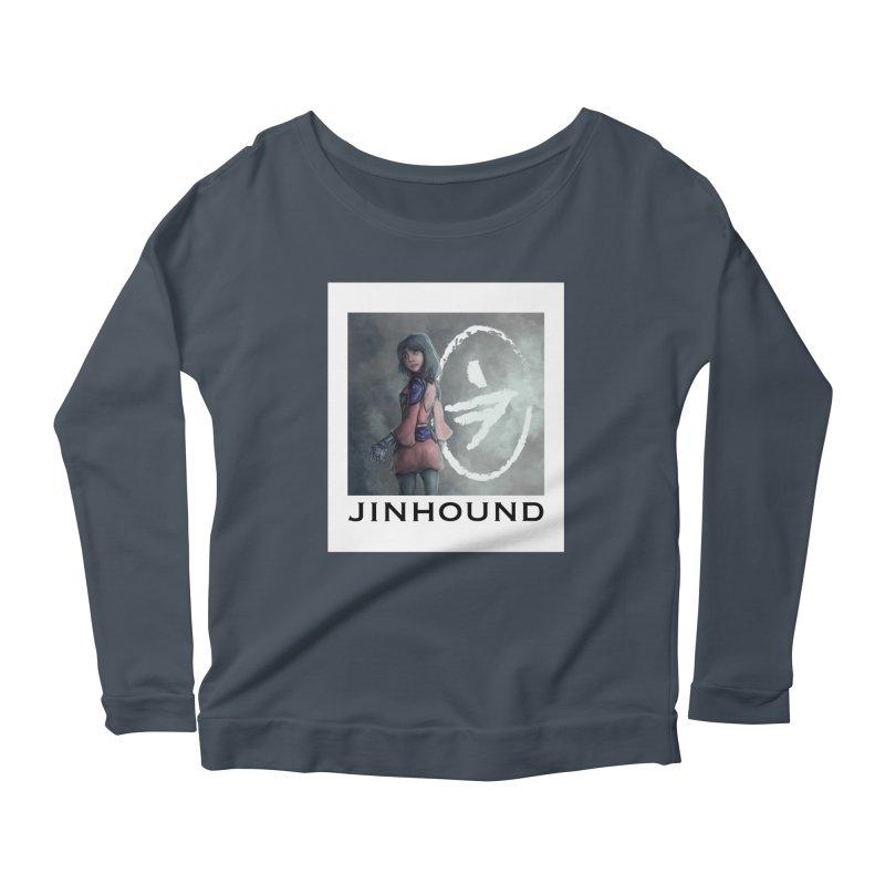 Girl in the mist Women's Scoop Neck Longsleeve T-Shirt by jinhound's Artist Shop