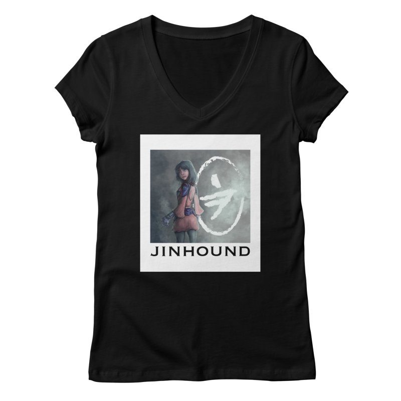 Girl in the mist Women's V-Neck by jinhound's Artist Shop