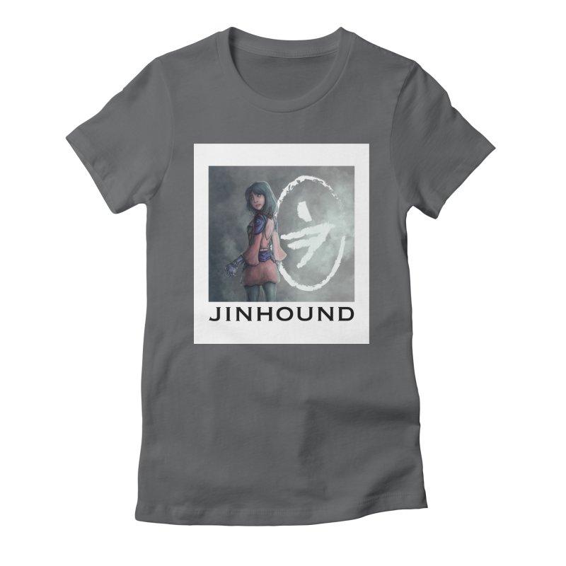 Girl in the mist Women's Fitted T-Shirt by jinhound's Artist Shop