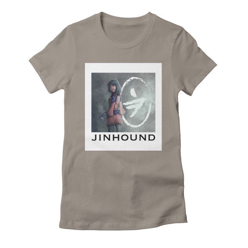 Girl in the mist Women's Fitted T-Shirt by jinhound's Artist Shop