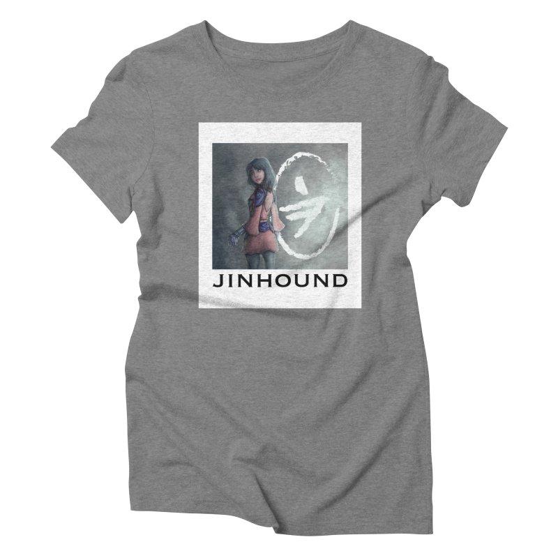 Girl in the mist Women's Triblend T-Shirt by jinhound's Artist Shop
