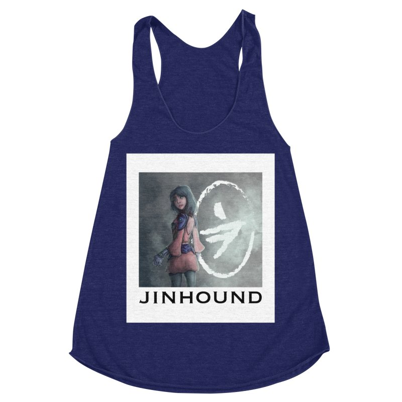 Girl in the mist Women's Racerback Triblend Tank by jinhound's Artist Shop
