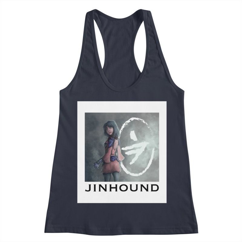 Girl in the mist Women's Racerback Tank by jinhound's Artist Shop