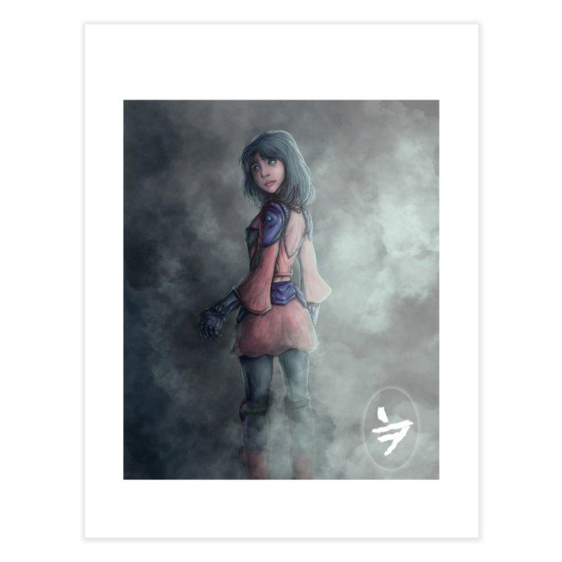 Girl in the mist Home Fine Art Print by jinhound's Artist Shop