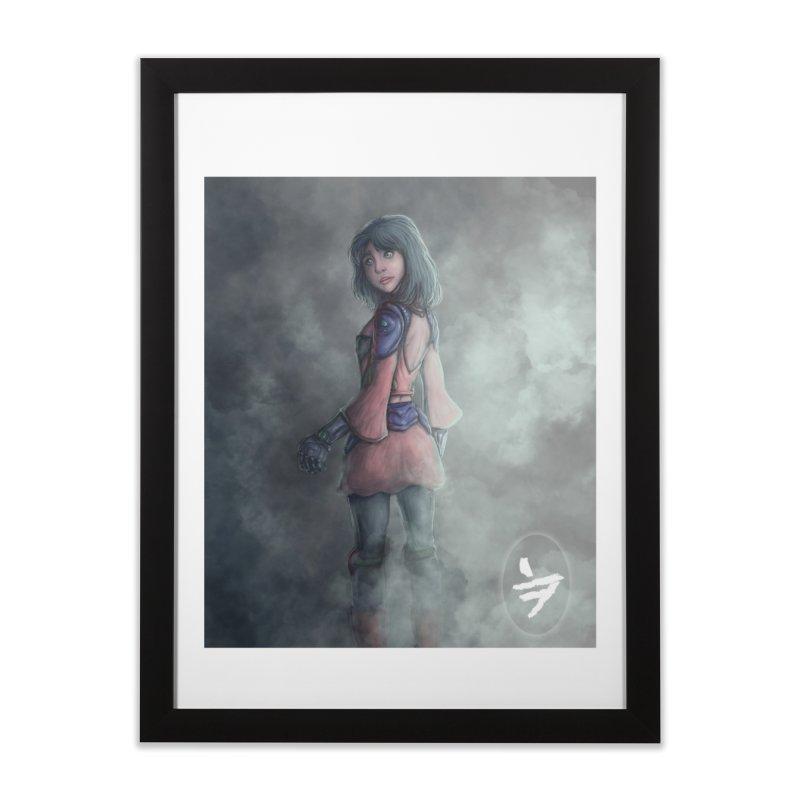 Girl in the mist Home Framed Fine Art Print by jinhound's Artist Shop