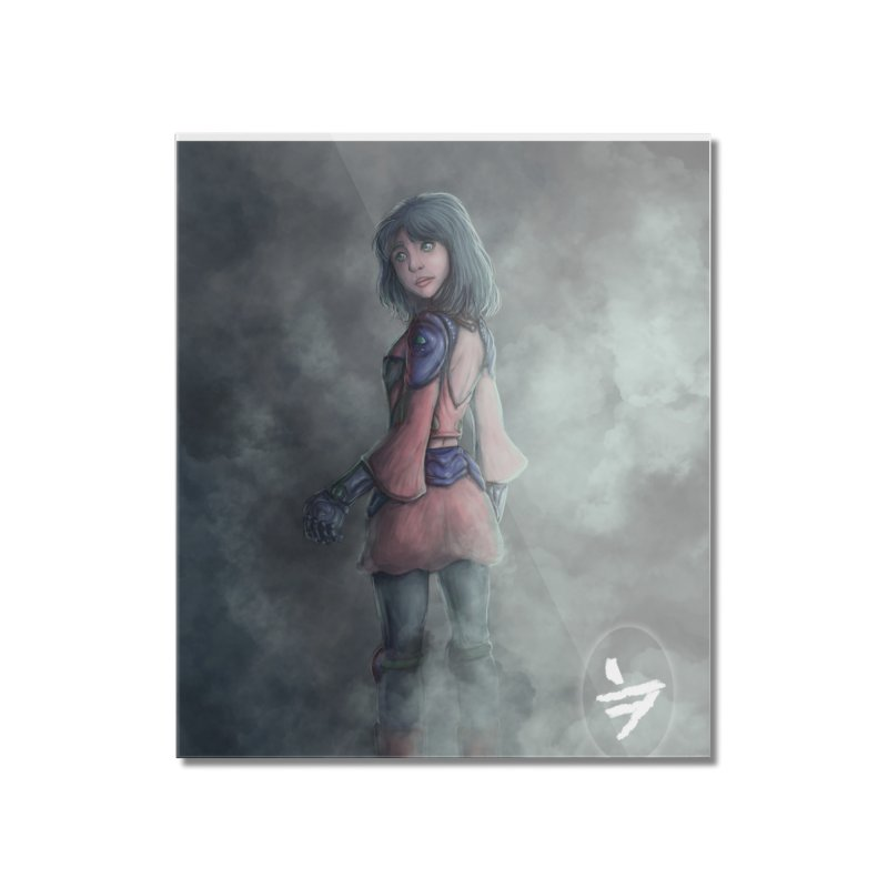 Girl in the mist Home Mounted Acrylic Print by jinhound's Artist Shop