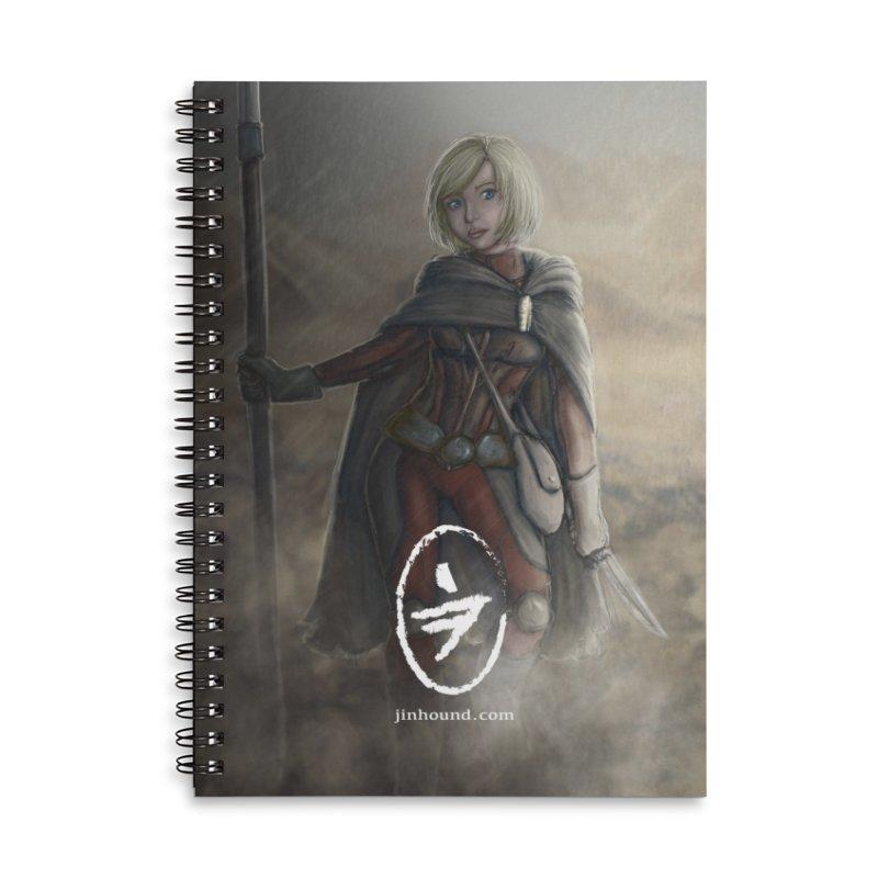 Mylene Accessories Lined Spiral Notebook by jinhound's Artist Shop