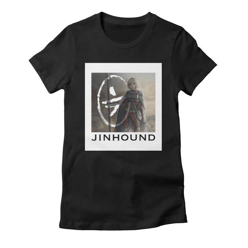 Mylene Women's Fitted T-Shirt by jinhound's Artist Shop