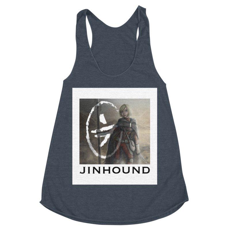Mylene Women's Racerback Triblend Tank by jinhound's Artist Shop