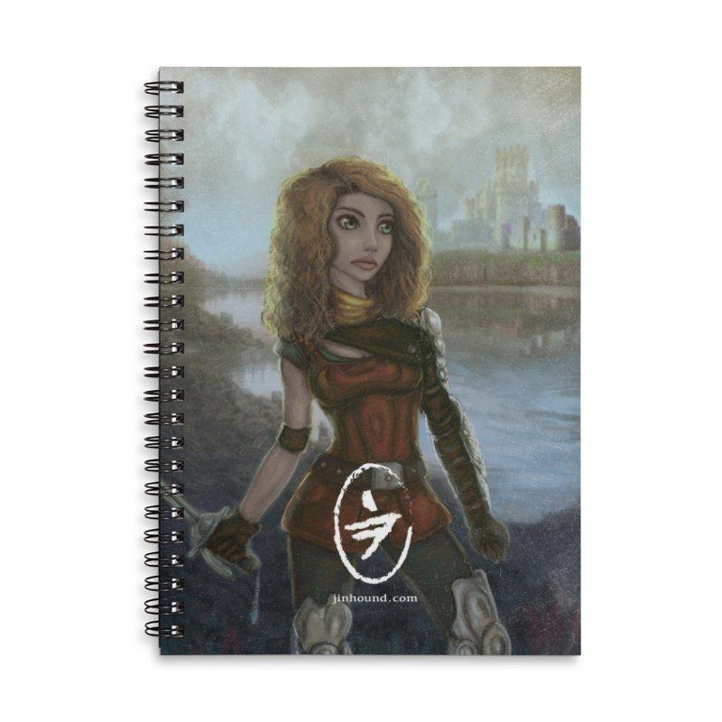 Warrior Accessories Lined Spiral Notebook by jinhound's Artist Shop