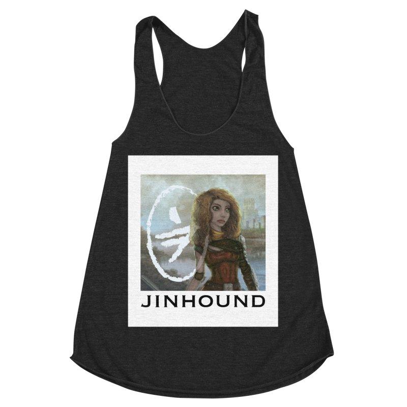 Warrior Women's Racerback Triblend Tank by jinhound's Artist Shop