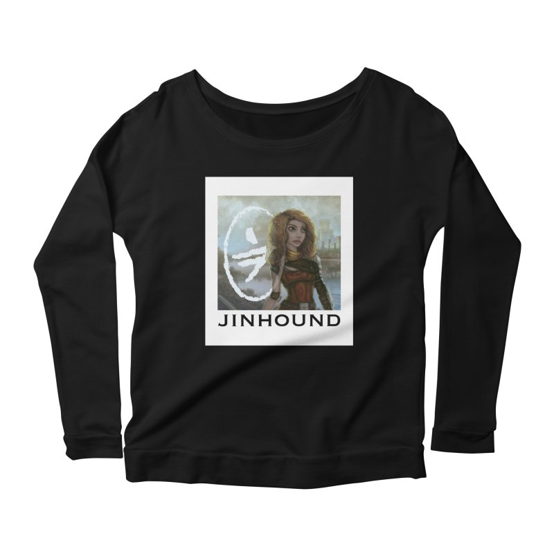 Warrior Women's Scoop Neck Longsleeve T-Shirt by jinhound's Artist Shop