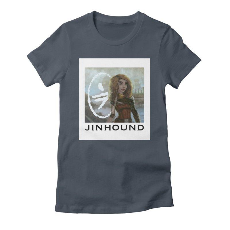 Warrior Women's Fitted T-Shirt by jinhound's Artist Shop