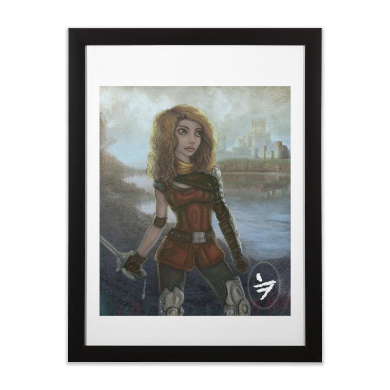 Warrior Home Framed Fine Art Print by jinhound's Artist Shop