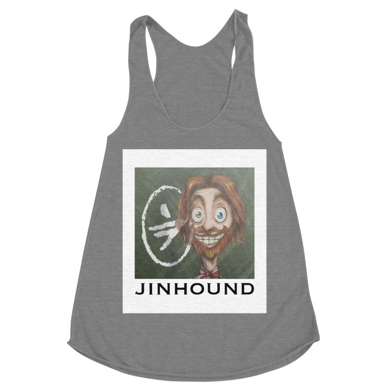 ...then it got weirder...(Oscar de Fraisanges 2) Women's Racerback Triblend Tank by jinhound's Artist Shop