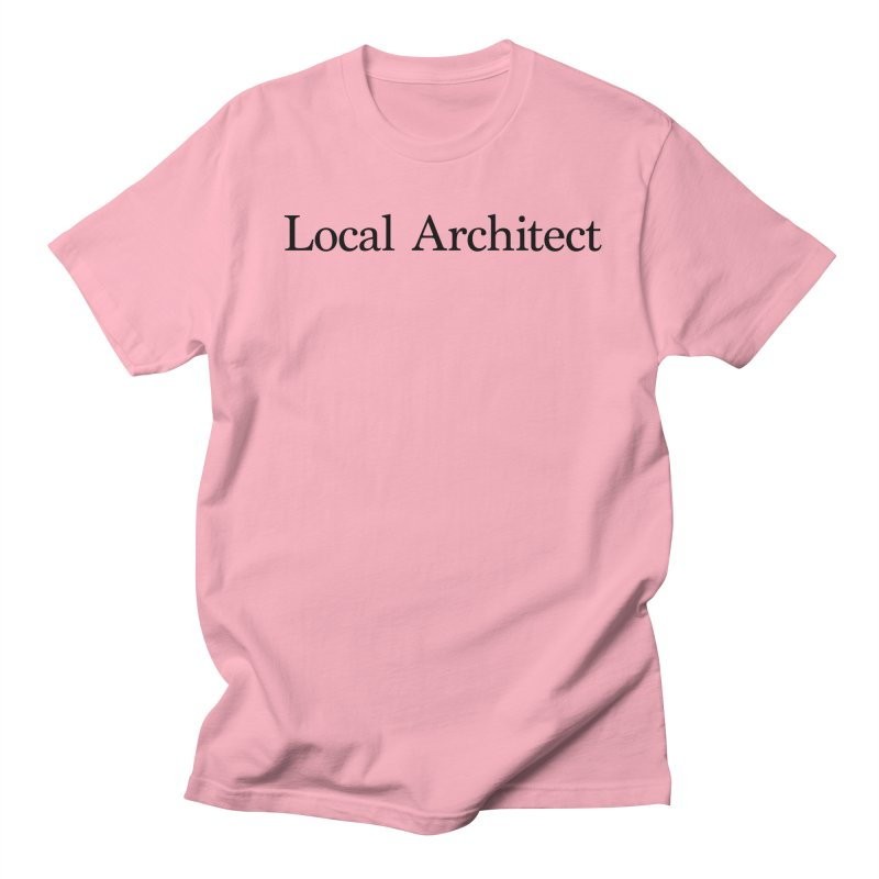 Local Architect in Men's Regular T-Shirt Light Pink by jjqad's Artist Shop