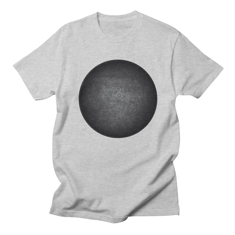 Solid Circle in Men's Regular T-Shirt Heather Grey by jjqad's Artist Shop