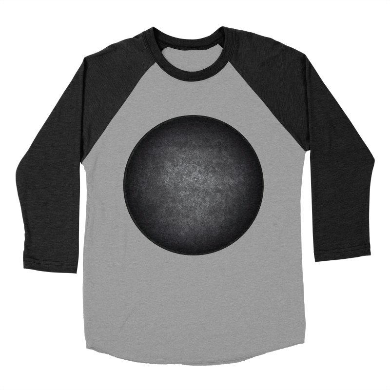 Solid Circle Men's Baseball Triblend Longsleeve T-Shirt by jjqad's Artist Shop