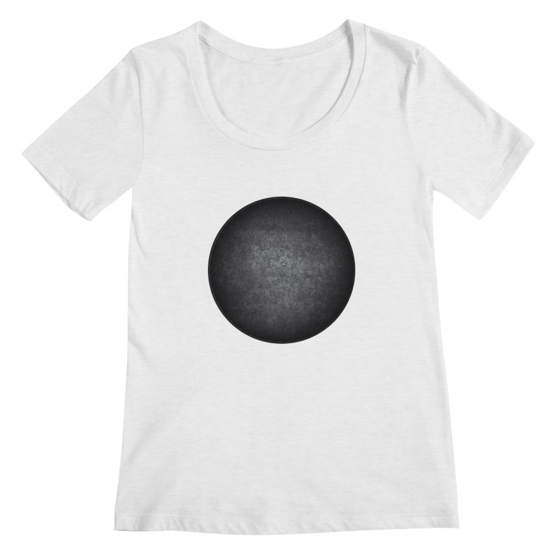 Solid Circle Women's Regular Scoop Neck by jjqad's Artist Shop