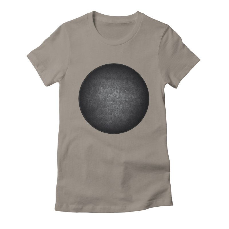 Solid Circle Women's Fitted T-Shirt by jjqad's Artist Shop