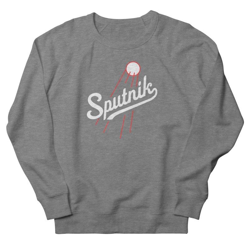 Sputnik - dark colors Men's French Terry Sweatshirt by jjqad's Artist Shop
