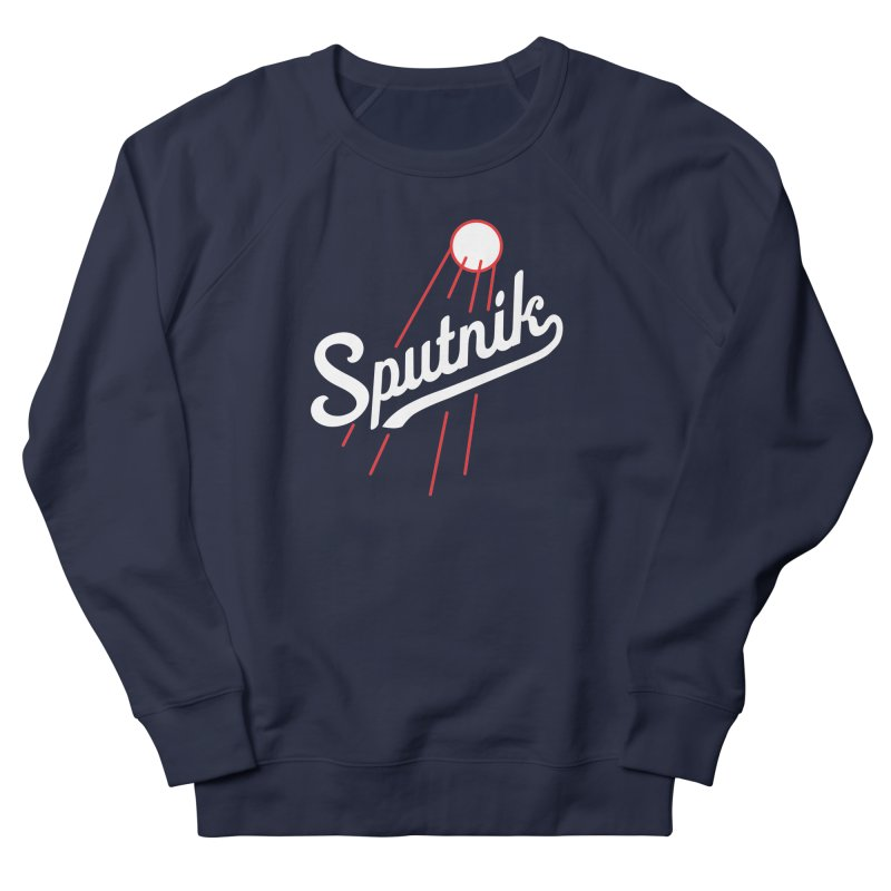 Sputnik - dark colors Men's French Terry Sweatshirt by jjqad's Artist Shop