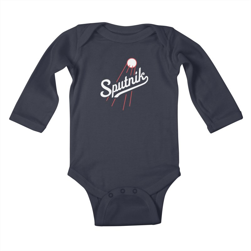 Sputnik - dark colors Kids Baby Longsleeve Bodysuit by jjqad's Artist Shop