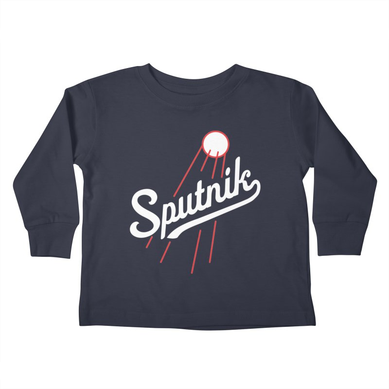 Sputnik - dark colors Kids Toddler Longsleeve T-Shirt by jjqad's Artist Shop