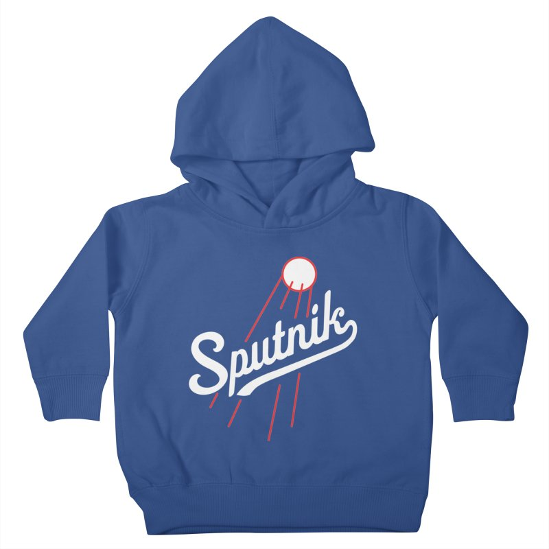 Sputnik - dark colors Kids Toddler Pullover Hoody by jjqad's Artist Shop