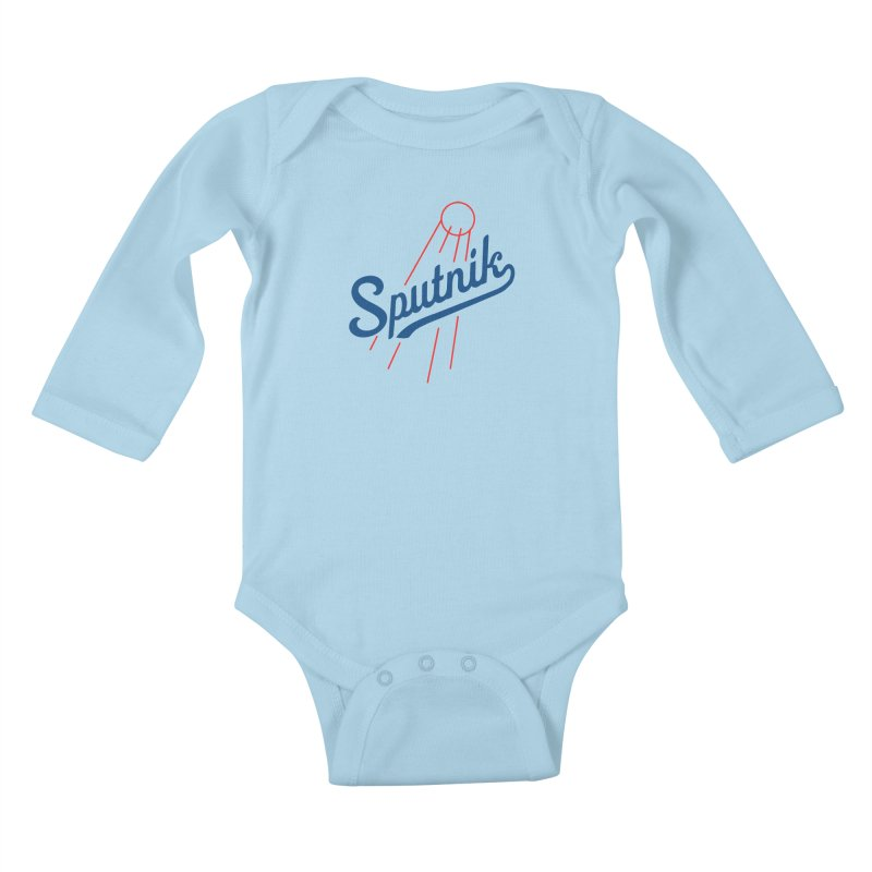 Sputnik - light colors Kids Baby Longsleeve Bodysuit by jjqad's Artist Shop