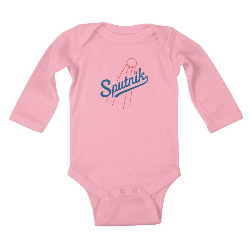 Sputnik - light colors Kids Baby Longsleeve Bodysuit by jjqad's Artist Shop