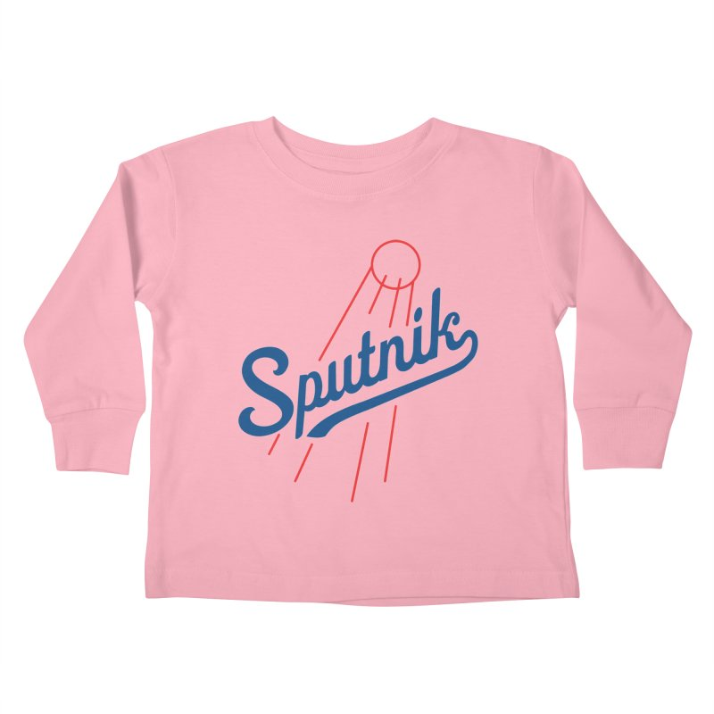 Sputnik - light colors Kids Toddler Longsleeve T-Shirt by jjqad's Artist Shop