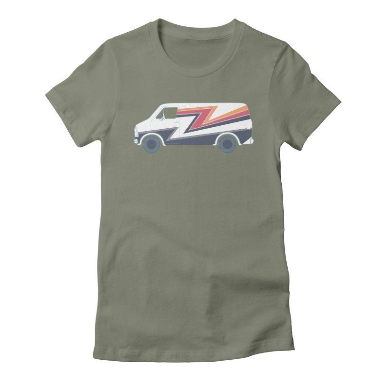 Bad Ass Van Women's Fitted T-Shirt by jjqad's Artist Shop