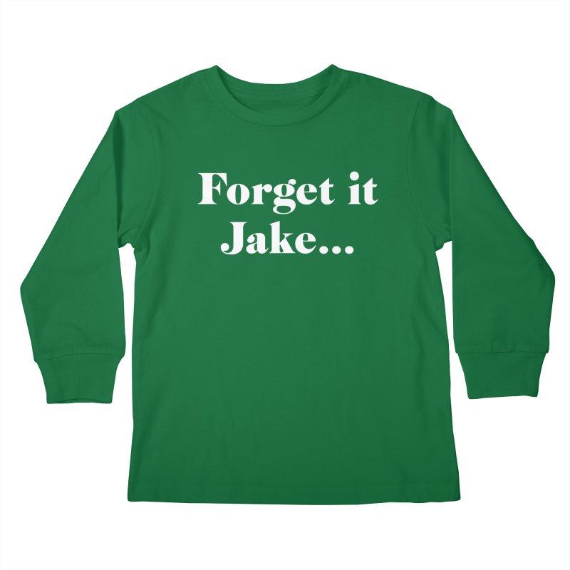 Forget it, Jake (dark colors) Kids Longsleeve T-Shirt by jjqad's Artist Shop