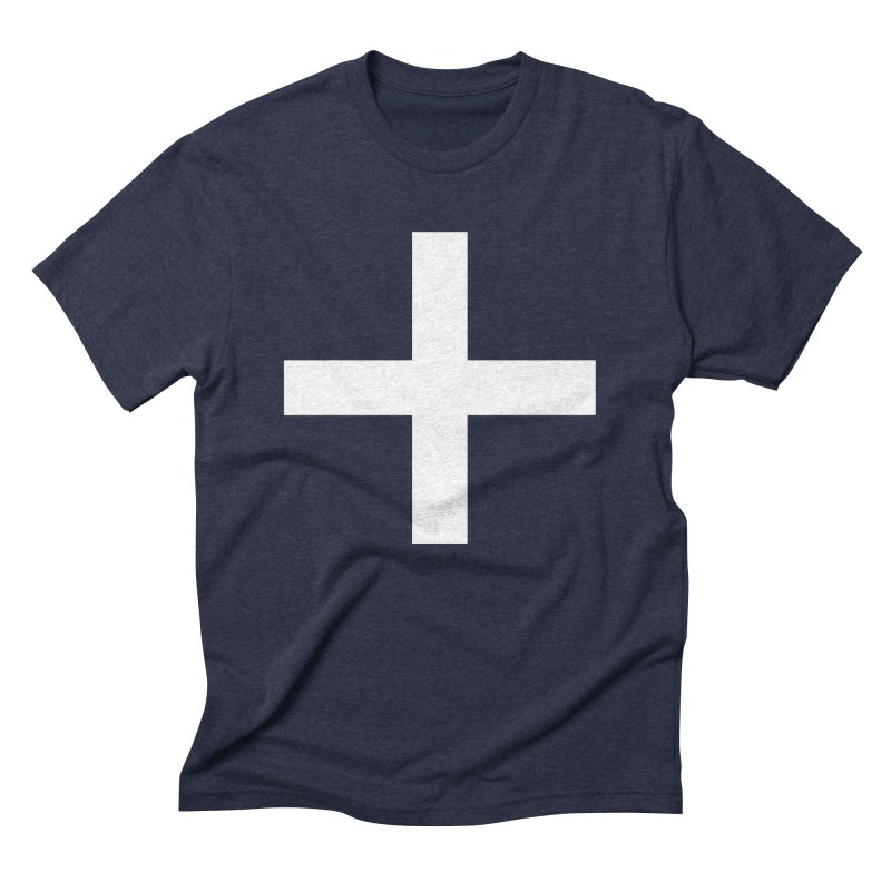 Plus (dark shirts) in Men's Triblend T-Shirt Navy by jjqad's Artist Shop