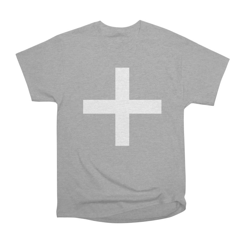 Plus (dark shirts) Women's Heavyweight Unisex T-Shirt by jjqad's Artist Shop