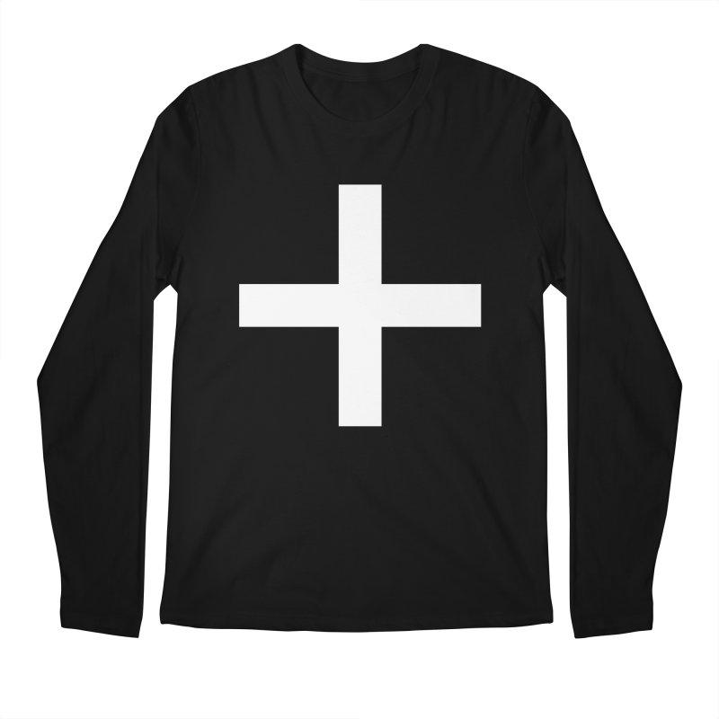 Plus (dark shirts) Men's Regular Longsleeve T-Shirt by jjqad's Artist Shop
