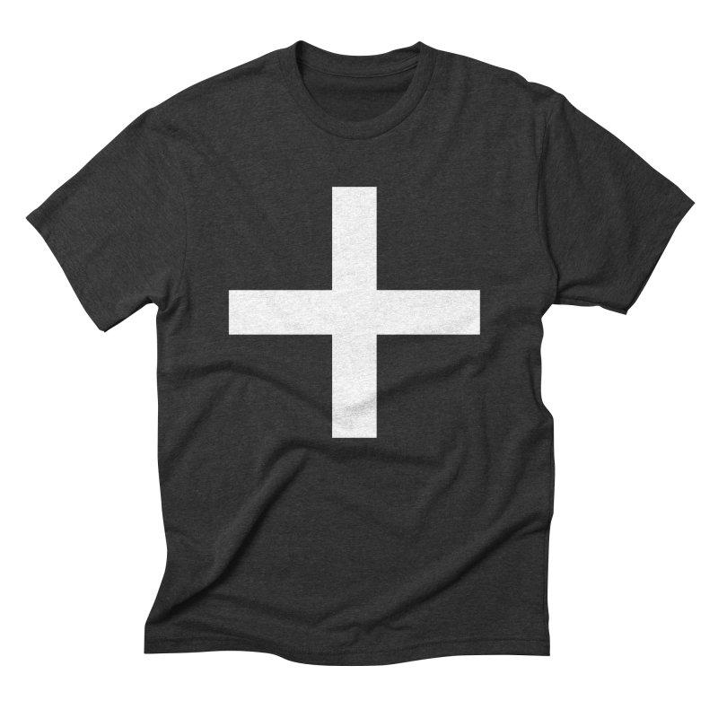 Plus (dark shirts) Men's Triblend T-Shirt by jjqad's Artist Shop