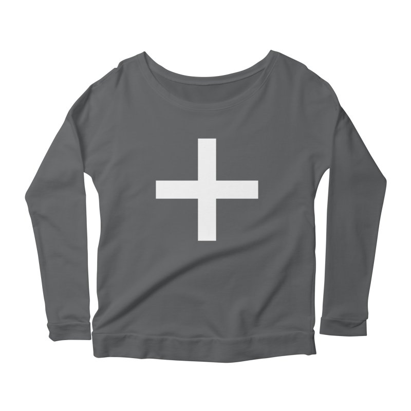 Plus (dark shirts) Women's Longsleeve T-Shirt by jjqad's Artist Shop