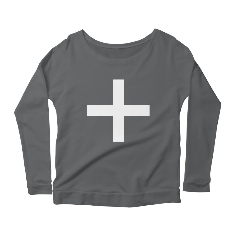 Plus (dark shirts) Women's Scoop Neck Longsleeve T-Shirt by jjqad's Artist Shop