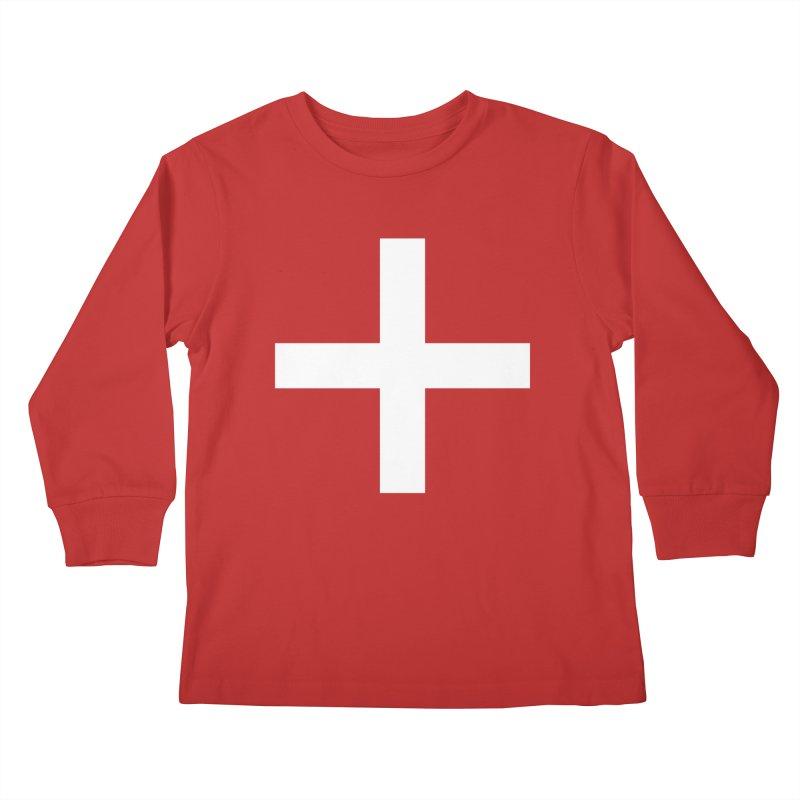 Plus (dark shirts) Kids Longsleeve T-Shirt by jjqad's Artist Shop
