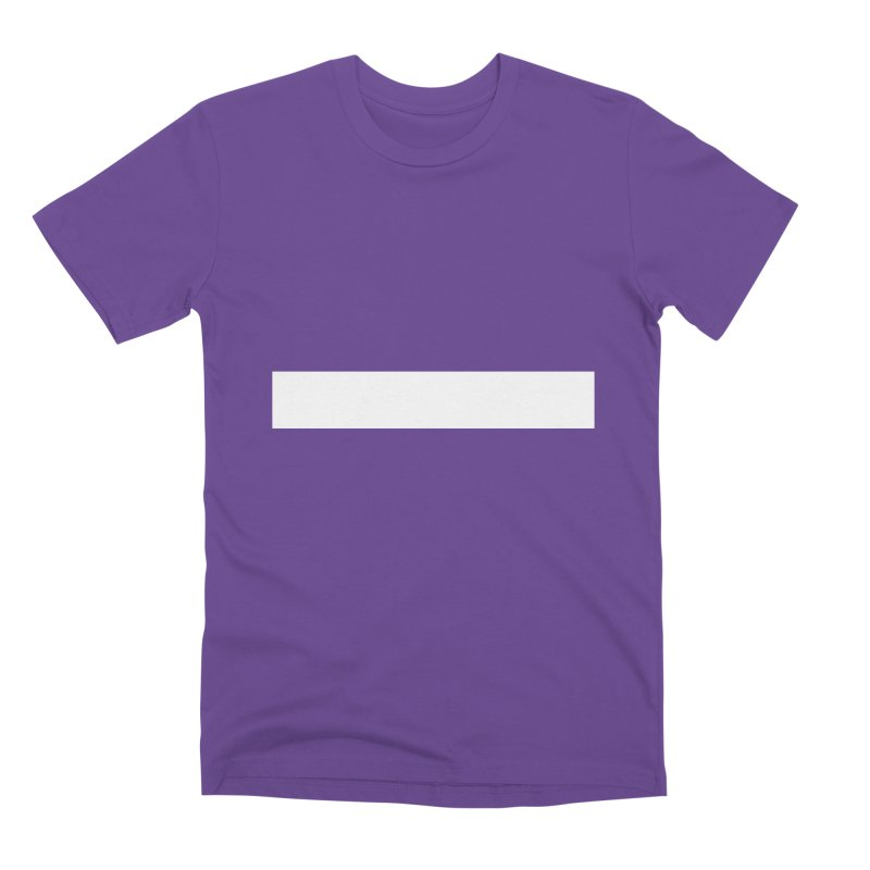 Minus (dark shirts) Men's Premium T-Shirt by jjqad's Artist Shop