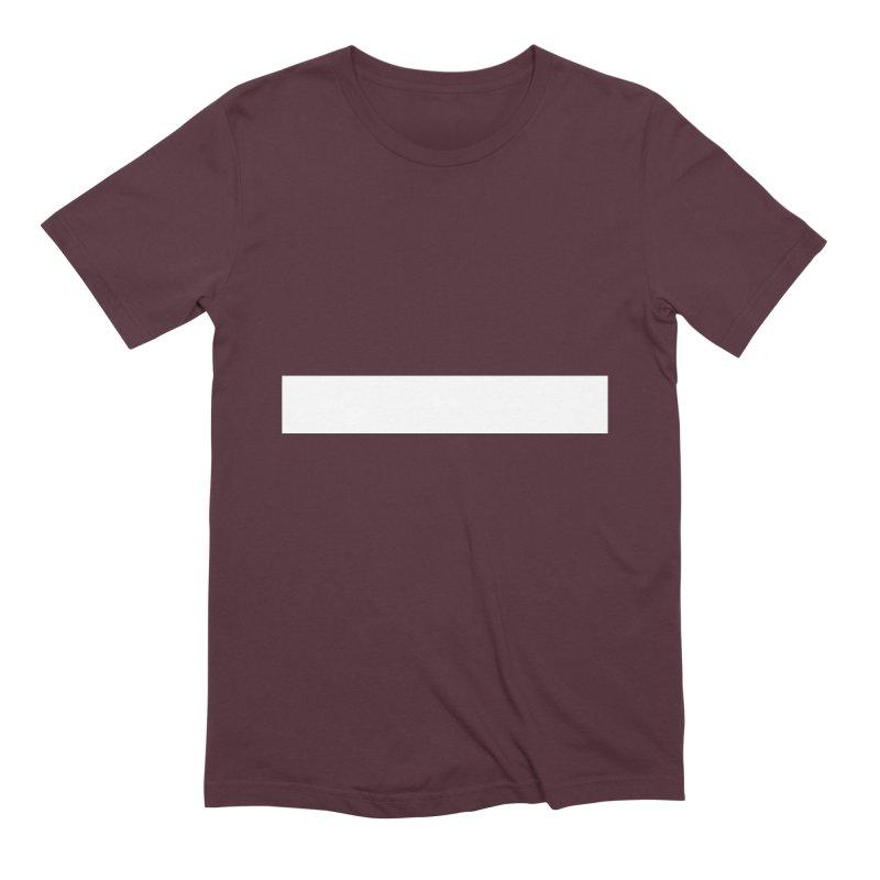 Minus (dark shirts) Men's Extra Soft T-Shirt by jjqad's Artist Shop