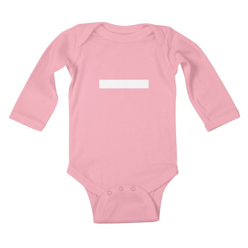 Minus (dark shirts) Kids Baby Longsleeve Bodysuit by jjqad's Artist Shop