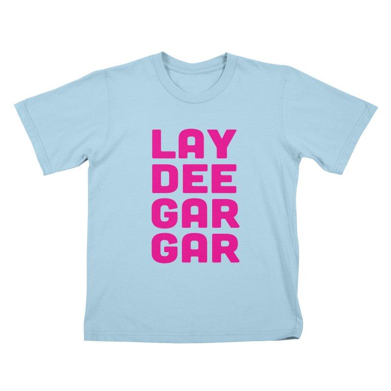 Lay Dee Gar Gar Kids T-Shirt by jjqad's Artist Shop