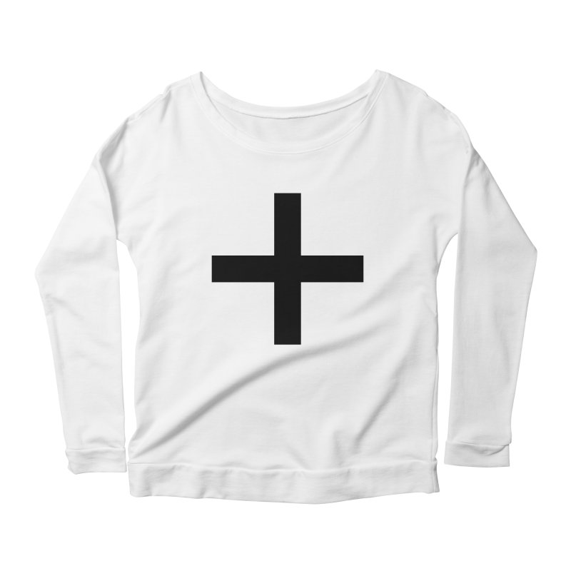 Plus (light shirts) Women's Scoop Neck Longsleeve T-Shirt by jjqad's Artist Shop