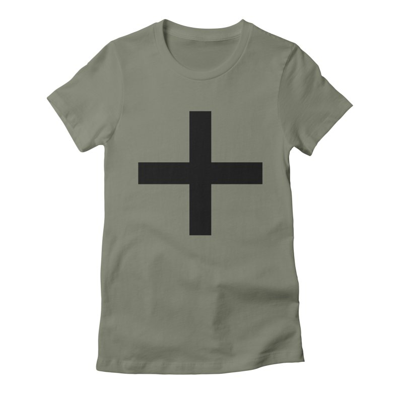 Plus (light shirts) Women's Fitted T-Shirt by jjqad's Artist Shop