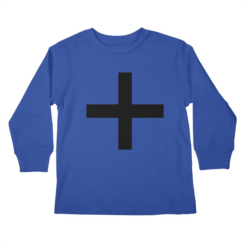 Plus (light shirts) Kids Longsleeve T-Shirt by jjqad's Artist Shop